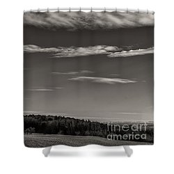 On The Lookout Shower Curtain by Bernd Laeschke
