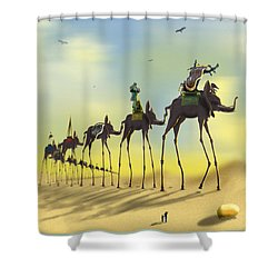 On The Move 2 Without Moon Shower Curtain