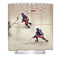 On The Offense Shower Curtain by Karol Livote