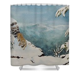 On The Prowl Sold Shower Curtain