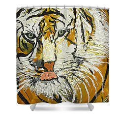 On The Prowl Zoom Shower Curtain