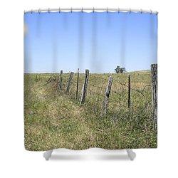 On The Range Shower Curtain by Daniel Hagerman