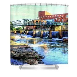 On The Reedy River In Greenville Shower Curtain