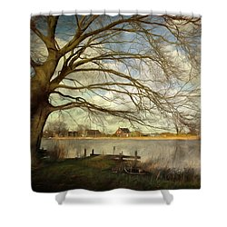 On The River Side Shower Curtain
