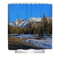 On The Road Again Shower Curtain by Fiona Kennard
