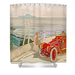 On The Road To Naples Shower Curtain by Aldelmo