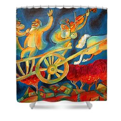 On The Road To Rebbe Shower Curtain