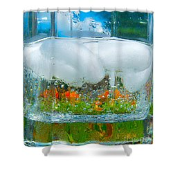 On The Rocks Shower Curtain by Pamela Clements