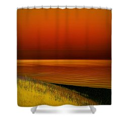 On The Shore Shower Curtain by Michelle Calkins