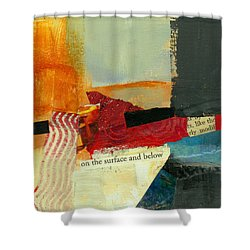 On The Surface And Below Shower Curtain by Jane Davies