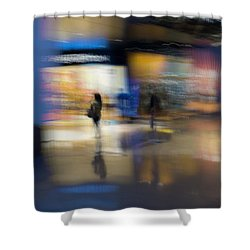 Shower Curtain featuring the photograph On The Threshold by Alex Lapidus