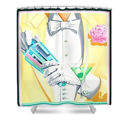On The Town Shower Curtain by Brian James