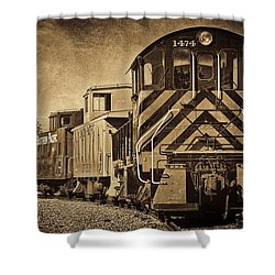 Shower Curtain featuring the photograph On The Tracks... Take Two. by Peggy Hughes