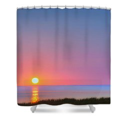On The Water Shower Curtain by Bill Wakeley