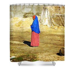 On The Way To Alexandria Shower Curtain by Mary Machare