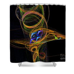 Shower Curtain featuring the digital art On The Way To Oz by Victoria Harrington