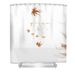 On The Wind Shower Curtain by GJ Blackman