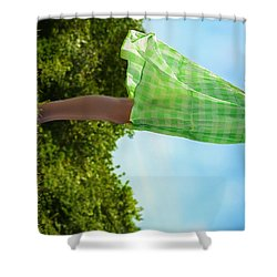 On This Spinning Earth  Shower Curtain by Laura Fasulo