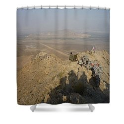On Top Of A Mountain Shower Curtain
