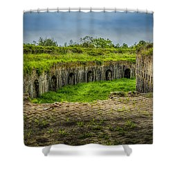 On Top Of Fort Macomb Shower Curtain by David Morefield