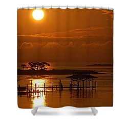 On Top Of Tacky Jacks Sunrise Shower Curtain by Michael Thomas