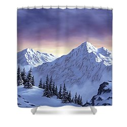 On Top Of The World Shower Curtain by Rick Bainbridge