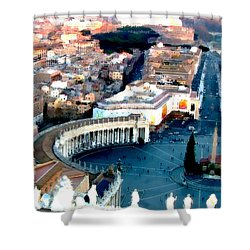 Shower Curtain featuring the digital art On Top Of Vatican 1 by Brian Reaves