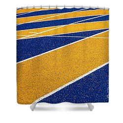 On Track Shower Curtain by Ethna Gillespie