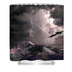 On Wings Of Eagles Shower Curtain