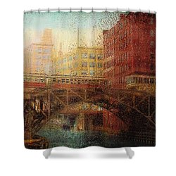 Once A Rainy Day Shower Curtain by Jack Zulli
