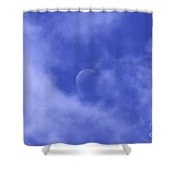 Shower Curtain featuring the photograph Once In A Blue Moon by Judy Whitton
