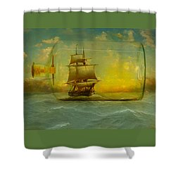 Once In A Bottle Shower Curtain