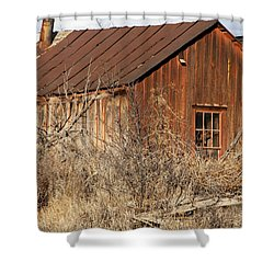 Once Occupied Shower Curtain by Fran Riley