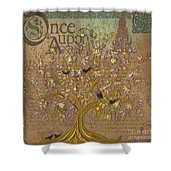 Once Upon A Golden Garden By Jrr Shower Curtain by First Star Art