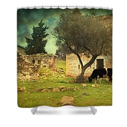 Once Upon A Time In Phokaia  Shower Curtain by Taylan Apukovska