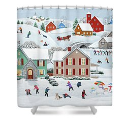 Once Upon A Winter Shower Curtain by Wilfrido Limvalencia