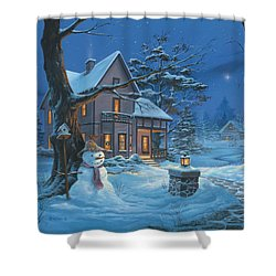 Once Upon A Winter's Night Shower Curtain by Michael Humphries