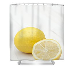 One And A Half Shower Curtain by Anne Gilbert