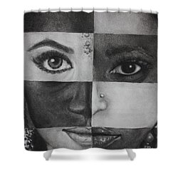 One And The Same 2 Shower Curtain by Malinda  Prudhomme