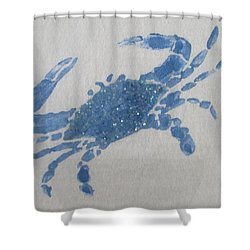 One Blue Crab On Sand Shower Curtain