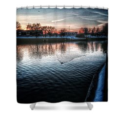 One By Air One By Sea Shower Curtain