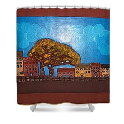 One Cloudy Day Shower Curtain by Otil Rotcod