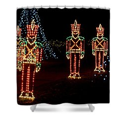 One Crooked Toy Soldier Shower Curtain by Rodney Lee Williams