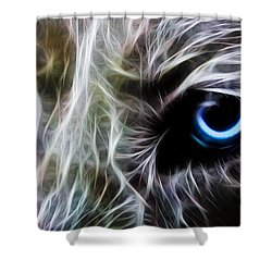 One Eye Shower Curtain by Aged Pixel