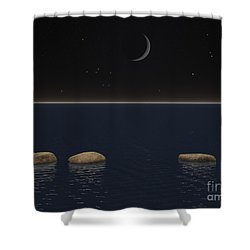 One Giant Leap For Mankind Shower Curtain by Phil Perkins