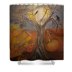One Hallowed Eve Shower Curtain by Maria Urso