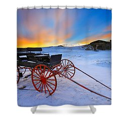 Shower Curtain featuring the photograph One Horsepower by Kadek Susanto