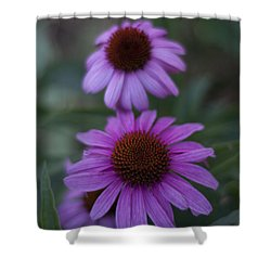 One Is Shy Shower Curtain by Miguel Winterpacht