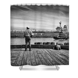 One Last Look Shower Curtain by Bob Orsillo