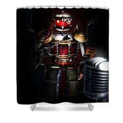 One Man Band Shower Curtain by Alessandro Della Pietra